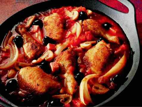 Italiensk kyllinggryte oppskrift.
