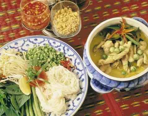 Kaeng Khiew Hwan Gai (kylling i grønn karri) oppskrift.