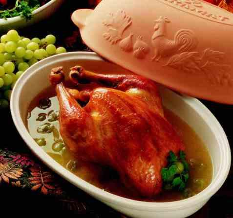 Kylling fylt med druer oppskrift.