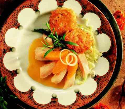 Kyllingfilet med appelsin og estragon oppskrift.