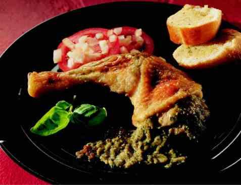 Kyllinglår fylt med hvitløkskrem oppskrift.