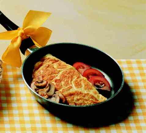 Omelett oppskrift.