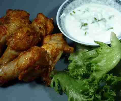 Orientalske kyllingvinger oppskrift.