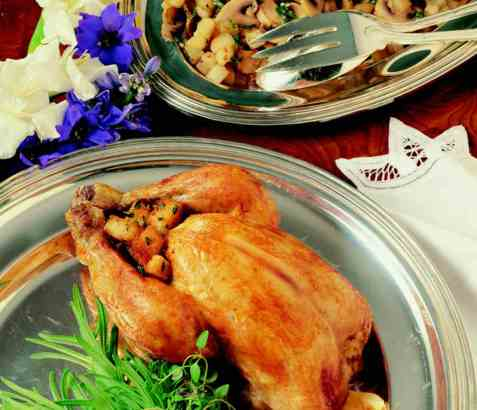 Poulet aux herbs (kylling med urter) oppskrift.