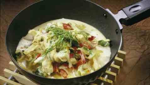 Thai-wok oppskrift.
