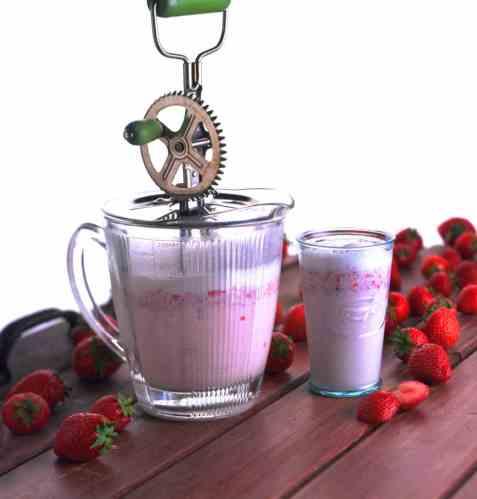 Jordbær-shake 1 oppskrift.