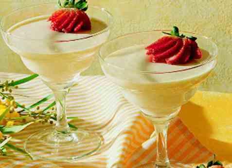 Portvinsråkrem til fruktsalat oppskrift.