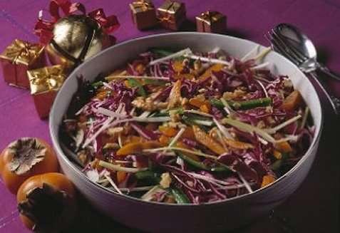 Rødkålsalat med sharon oppskrift.
