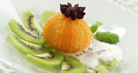 Bilde av Syltet klementin med yoghurt.