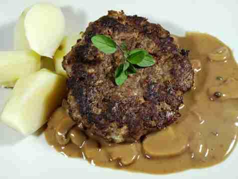 Bilde av Knut`s hjemmelagde hamburger:.