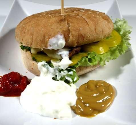 Kyllingburger oppskrift.