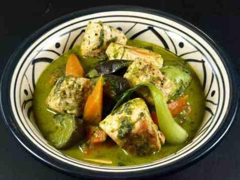 Dagens oppskrift er Grønn grønnsaks-curry.