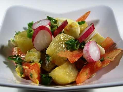 Tyrkisk potetsalat oppskrift.