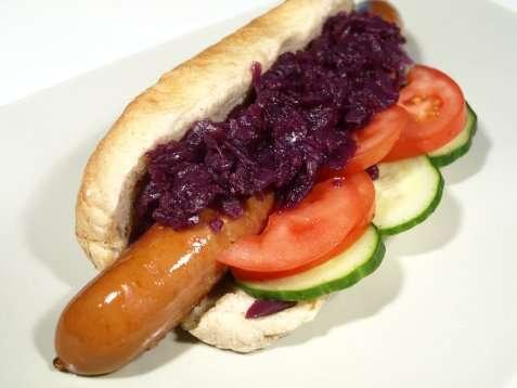 Bilde av Bratwurst-hotdogs.