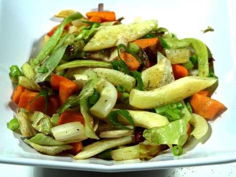 Stir-fried grønnsaker oppskrift.
