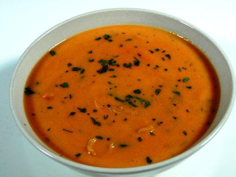 Bilde av Tomatsuppe av friske tomater.
