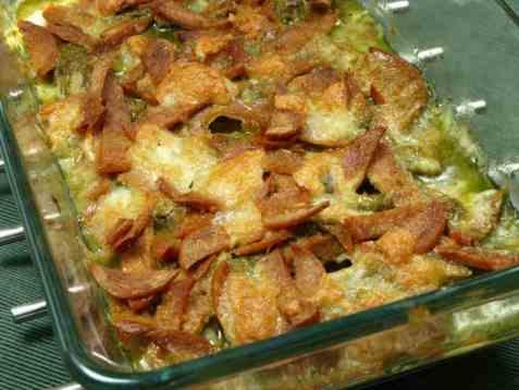 Torsk med pesto, chorizo og mozarella oppskrift.