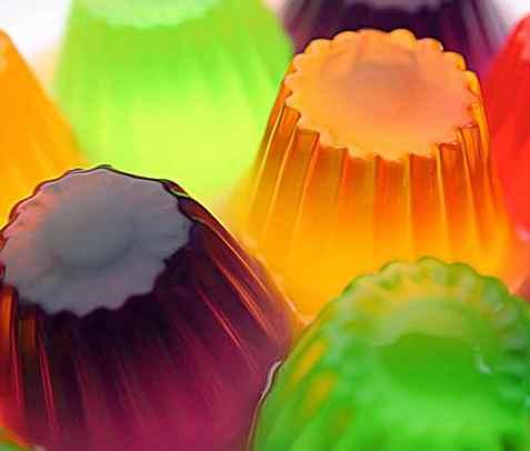Gele shots (Jello Shots, geleshot) oppskrift.