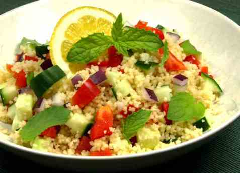 Nordafrikansk cous-cous salat oppskrift.