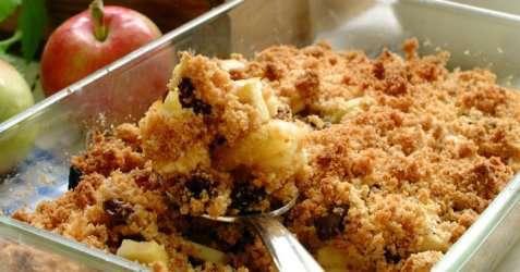 Lune epler med smuldrelokk oppskrift.