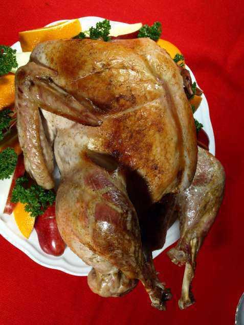 Prøv også Helstekt kalkun med forskjellige stuffinger (fyll) og sauser.