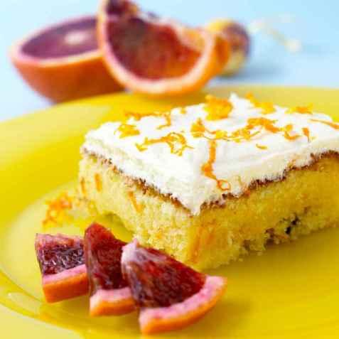 Bilde av Saftig appelsinkake med sjokolade.