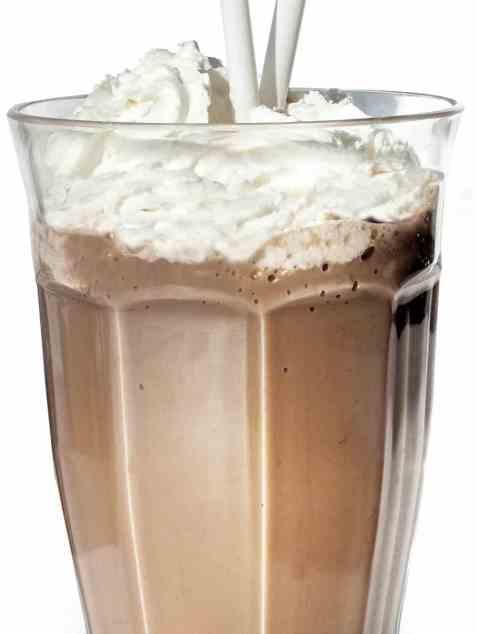 Sjokolade milkshake oppskrift.
