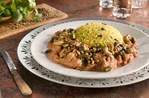 Pilaff med stekt kjøtt fra Tyrkia oppskrift.