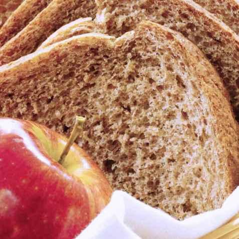 Eplebrød (kan lages i brødbakemaskin) oppskrift.