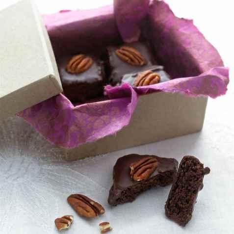 Brownies med sjokoladeglasur oppskrift.