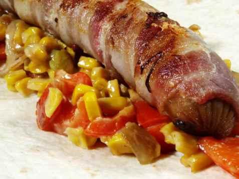 Ostegrill med bacon og maiskrem oppskrift.