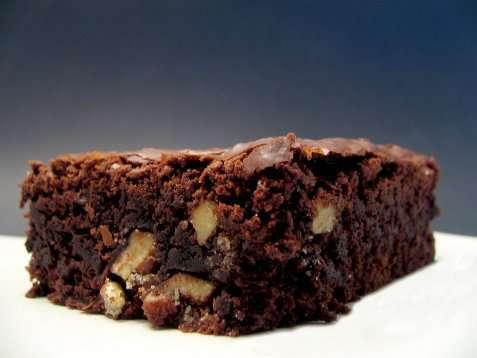 Brownies med nøtter oppskrift.