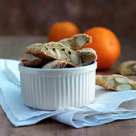 Appelsin-cantuccini (italienske skorper) oppskrift.