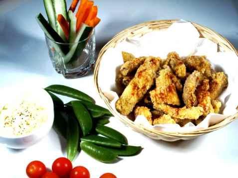 Tempurastekt kyllingfilet oppskrift.