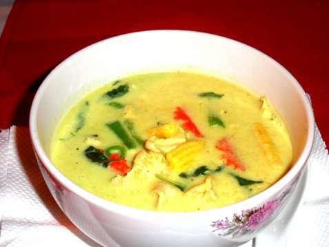 Green Curry Kaffir oppskrift.