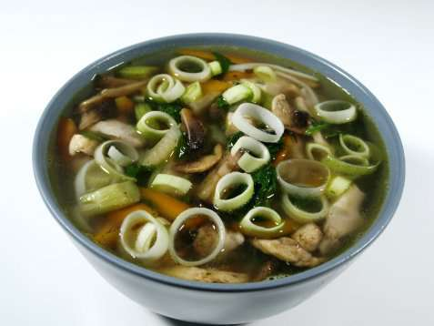 Chicken noodle soup oppskrift.