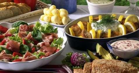 Ovnsbakt potetsalat oppskrift.