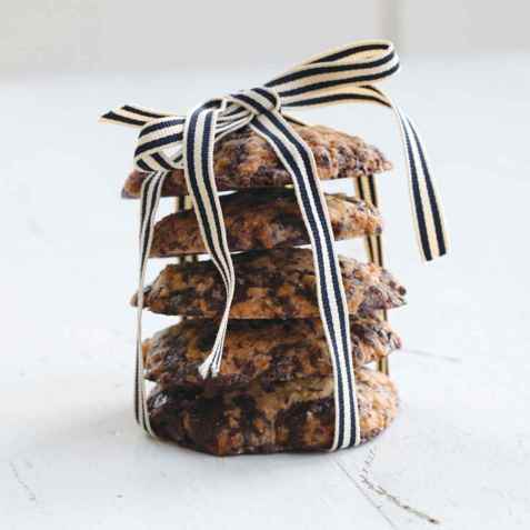 Sunnere havre- og sjokoladecookies oppskrift.