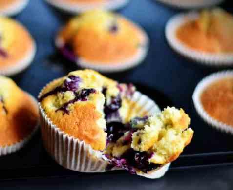 Amerikanske blåbærmuffins oppskrift.