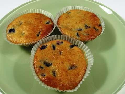 Klassiske blåbær muffins oppskrift.