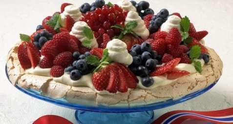 Pavlova - den beste 17. mai-kaken. oppskrift.