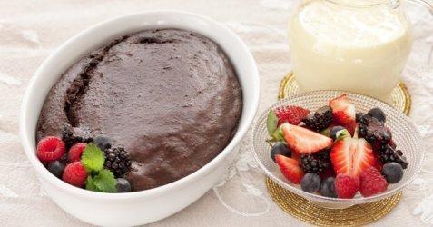 Sjokoladebrødpudding oppskrift.