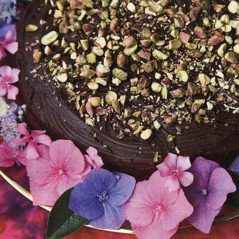 Selskapssjokoladekake oppskrift.