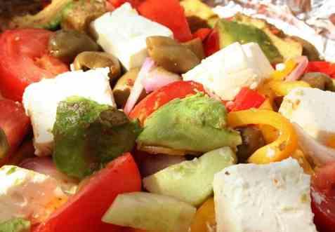 Grillet gresk salat oppskrift.