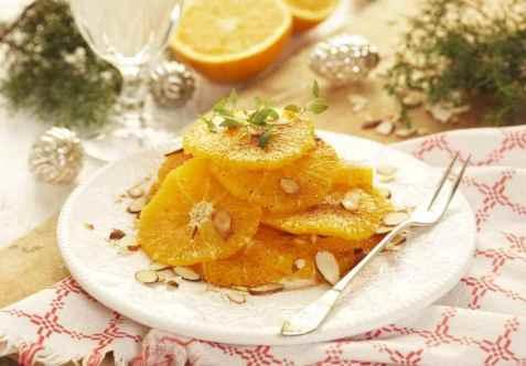 Appelsinsalat fra Marokko oppskrift.