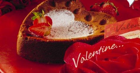 Bilde av Valentinsjokoladekake.