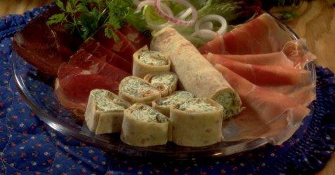 Tortillabusser med kremost og urter oppskrift.