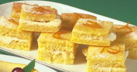 Appelsinkake med ostekrem oppskrift.