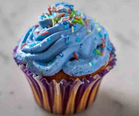 Muffins med frosting (Cupcakes) oppskrift.