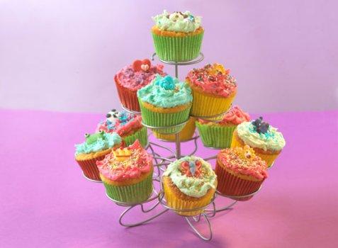 Tivolicupcakes oppskrift.